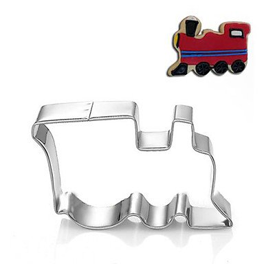 Tren vehículo forma Locmotive cortadores para galletas cortar frutas moldes de acero inoxidable: Amazon.es: Hogar