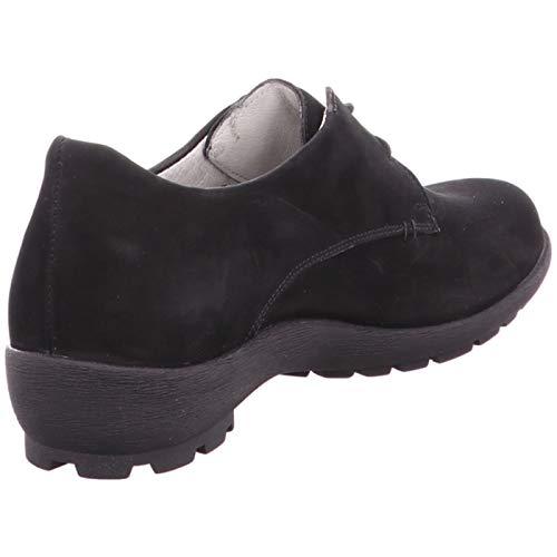 femme lacets 191001 589013 Chaussures ville de Waldläufer pour Noir à wY8HqB5
