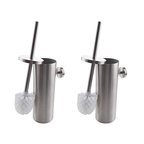 KES SUS 304 Stainless Steel Toilet Brush Wall Mount for Bathroom Storage Modern Style Brushed Finish, 2 Pack, BTB260-2-P2