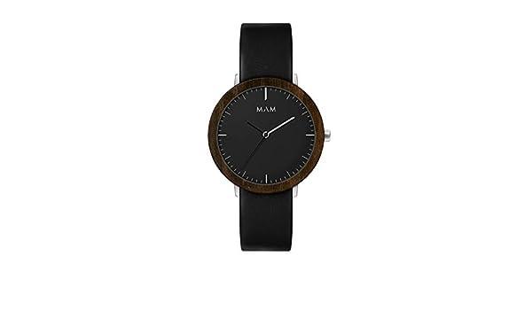 Reloj MAM para Mujer con Correa Negra, Esfera Negra.621-000070: Amazon.es: Relojes