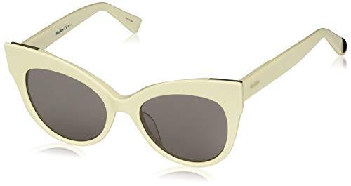Max Mara Women's Mm Anita Polarized Cateye Sunglasses, IVORY, 52 ()