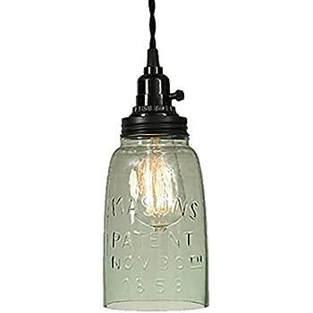 Half gallon open bottom mason jar pendant lamp ceiling pendant half gallon open bottom mason jar pendant lamp mozeypictures Images