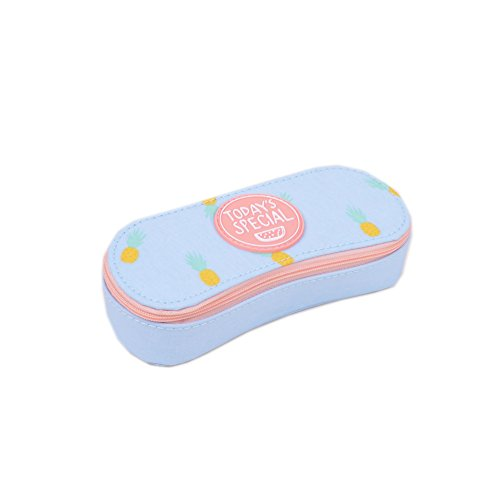 Cute Fruit Print Myopic Glasses Case Canvas Eyeglasses Spectacles Box for Girls Sunglasses Case - Sunglasses Pineapple Print