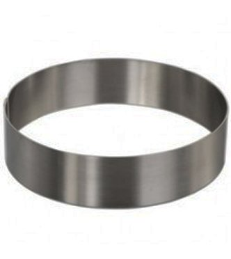 Round Cake Mold/Pastry Ring, S/S, Heavy Gauge.