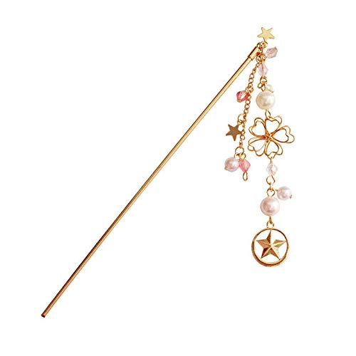 Vintage Womens Flower Gold Pin Hair Stick Hair Pins Crystals Hair Clips (Styles - #2)