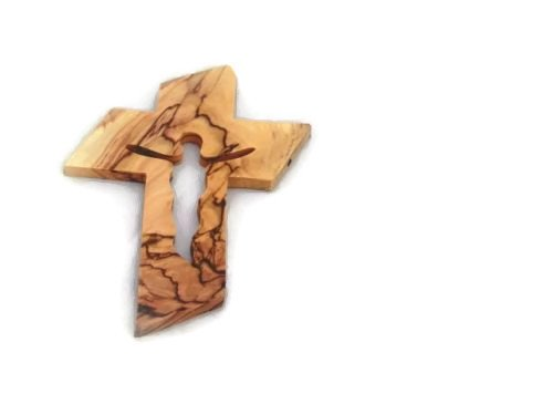 HolyRoses Olive Wood Jesus Christ Silhouette Cut Out Design Wall Cross