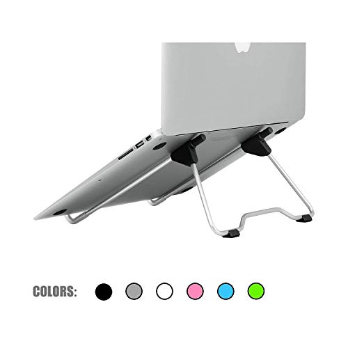 Laptop Stand Holder for MacBook Air Pro 13 15 Lenovo ASUS Tablet PC Holder Desktop Metal Steel Multi Angle Non Slip Portable,Black