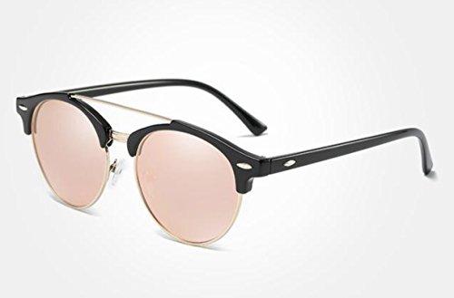 de gafas elegantes De baratas Polarizadas Negro espejo Gafas de redondas sol polarizadas Redondas gafas Gafas espejo mujer sol gafas sol baratas – de – De de Sol Espejo gafas polarizadas Rosa sol Zq44xg
