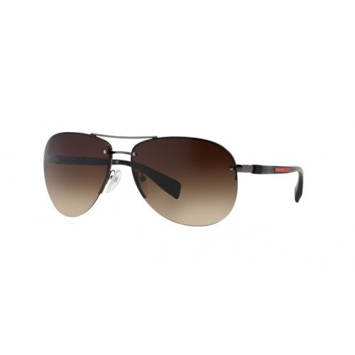 Prada Linea Rossa Men's PS 56MS Sunglasses Gunmetal/Brown Gradient 62mm