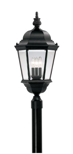 Indoor Lamp Post (Designers Fountain 2956-BK Value Collection Wall Lanterns, Black)
