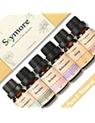 Skymore Top 6 Essential Oil Blend Gift Set, 100% Pure Aromatherapy Oils for Diffuser, Best Therapeutic Grade Essential Oil Kit - 6/10ml (Sleep, Breathe, Relaxation, Refresh, Immunity, Decompression)