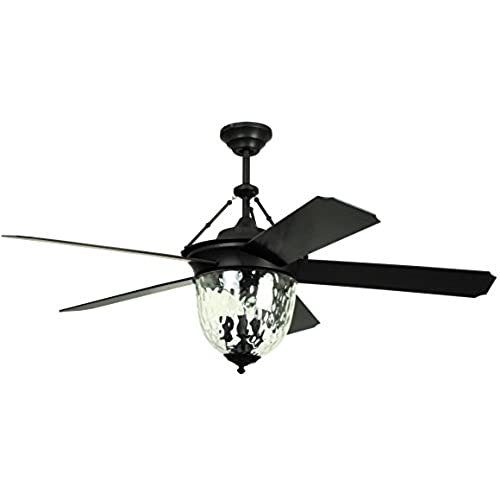 Outdoor ceiling fan with light wet rated amazon litex e km52abz5cmr knightsbridge collection 52 inch indooroutdoor ceiling fan with remote control five dark aged bronze abs blades and single light kit aloadofball Image collections