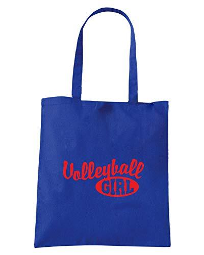 Borsa GIRL OLDENG00824 Shopper VOLLEYBALL Royal Blu BwqR8Br4