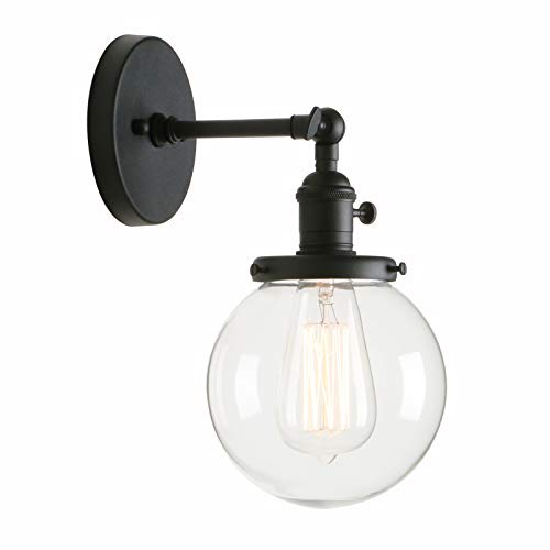 Vintage Round Fluorescent Light Fixture: Permo Vintage Industrial Wall Sconce Lighting Fixture With
