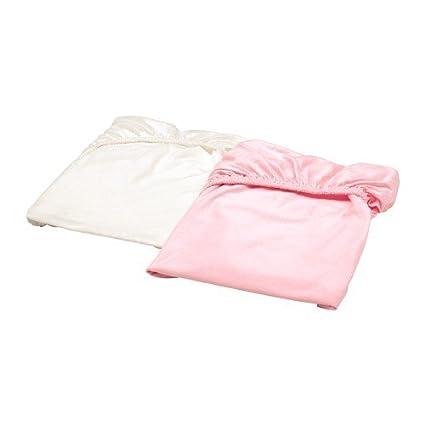 Ikea Lenzuola Con Angoli.Ikea Len Lenzuolo Con Angoli Per Lettino In Bianco E Rosa 100