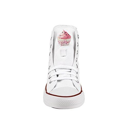 Artigianali Personalizzate Converse Alta All Stampa Star Scarpe Cupcake wRwXZqA