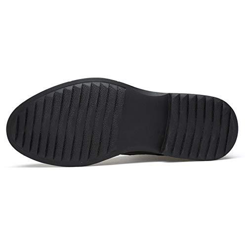 Stivali da Strato Scarpe da Scarpe Lavoro Leggero Bovina Black Uomo Superiore Pelle Ginnastica Impermeabile rrqdgaw