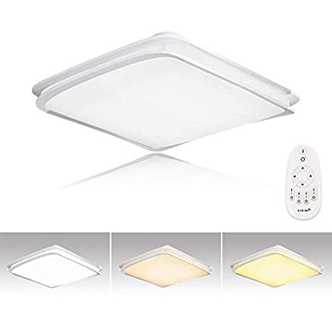Hengda® 64W LED Lámpara de techo Moderna Regulable Luz De Techo Ultradelgado Ahorro Lámpara para sala de estar/Dormitorio/Baño/Cocina/Vestíbulo [Clase ...