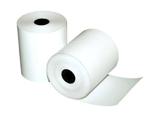 Quality Park negro imagen calculadora y POS/caja registradora de papel térmico rollos de una sola capa, Blanco, 3-1/8' x 230...