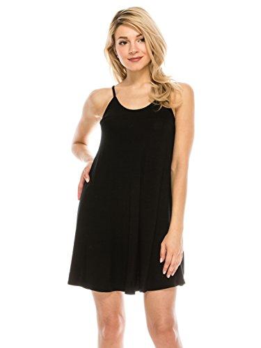 Casual Spaghetti Strap Cover Up Short Dresses: Beach Sun Cruise Loose Halter Tank summer dresses for juniors Blk (Halter Draped Mini)