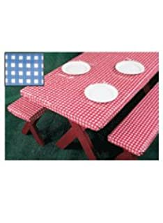 Excellent 3 Piece Fitted Picnic Table Bench Covers Blue Andrewgaddart Wooden Chair Designs For Living Room Andrewgaddartcom