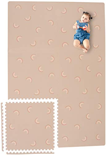 Yay Mats Stylish Extra Large Baby Play Mat. Soft, Thick, Non-Toxic Foam Covers 6 ft x 4 ft. Expandable Tiles with Edges Infants and Kids playmat Tummy time mat