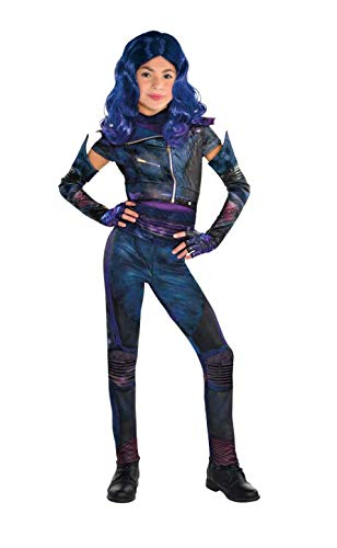 Party City Descendants 3 Deluxe Mal Costume for Children, Size Large, Includes Zipper Jacket, Leggings, Gloves, and ()