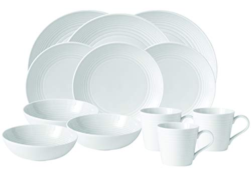 (Royal Doulton 8574021736 Gordon Ramsay Maze White 16-Piece Set)