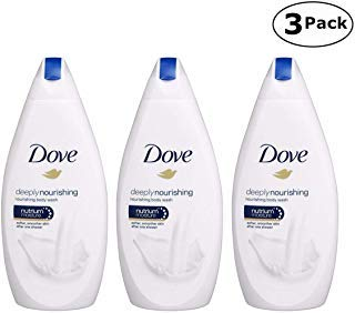 Dove Deeply Nourishing Body Wash, 16.9 Fluid Ounce / 500 ml (Pack of 3) International Version