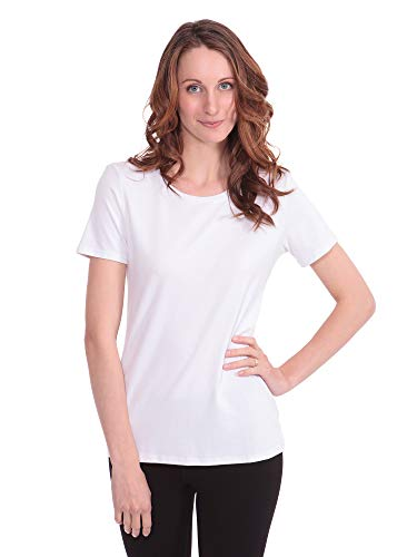 Texere Women's Short Sleeve T-Shirt (Spring Zing, Ultra White, 3X) Bamboo Tee