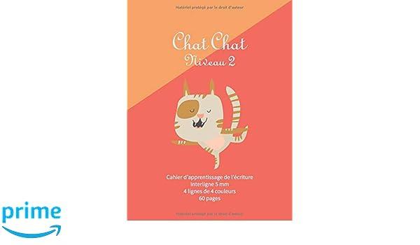 Amazoncom Chat Chat Niveau 2 Cahier A4 4 Lignes De