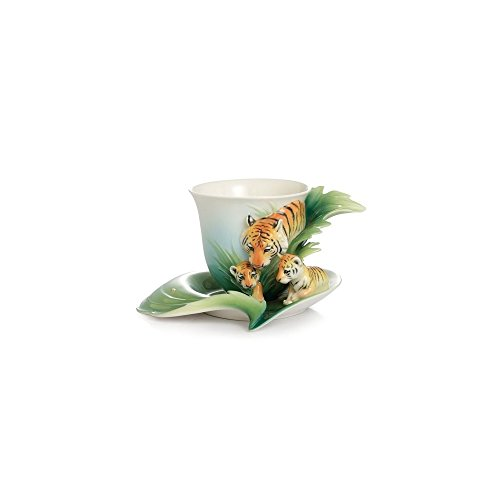(Tiger Cup and Saucer )