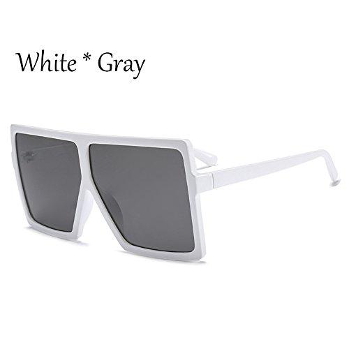 De C7 Unas Gafas White Square Negro Grande Plata TIANLIANG04 De Bastidor Gray Enormes C6 Protección Mujer Sol Solar Gafas Sol tztTwvq