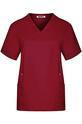 MedPro Women's Performance Medical Scrub Set V Neck Top Cargo Pants
