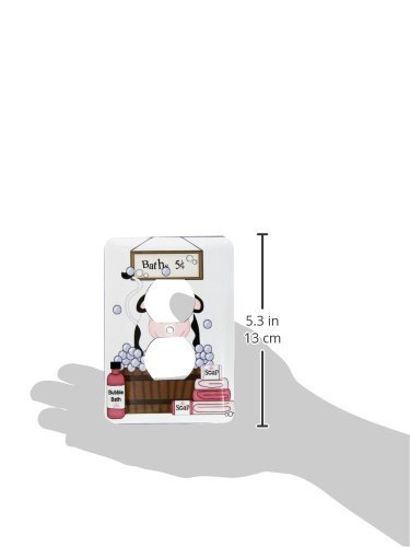 3dRose lsp/_211152/_6 Cute Black and White Cow In A Bathtub 2 Plug Outlet Cover Multicolor