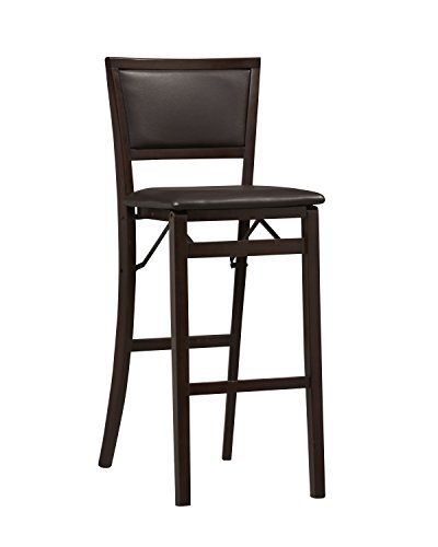 - Linon Keira Pad Back Folding Bar Stool