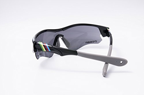 Ocean Sunglasses Iron - lunettes de soleil - Monture : Noir Laqué - Verres : Revo Noir (94000.1) 4yzFNXrbV