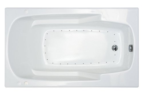 (Atlantis Whirlpools 3260ear Eros Rectangular Air Jetted Bathtub, 32 X 60, Right Drain, White)