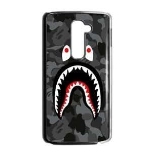 Bape Shark Black Army Pattern ,TPU Phone case for LG G2,black,1600Z489VO