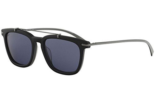 Salvatore Ferragamo Men's SF820SM Matte Black/Blue Sunglasses by Salvatore Ferragamo