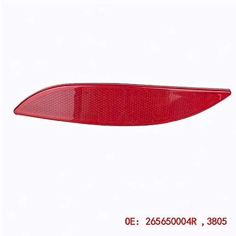 XZANTE Bande R/éfl/échissante de Voiture Adapt/é /à Renault Megane Mk3 Feu de Signalisation de Pare-Chocs Arri/ère R/éflecteur de Lumi/ère Gauche 265650004R 3805