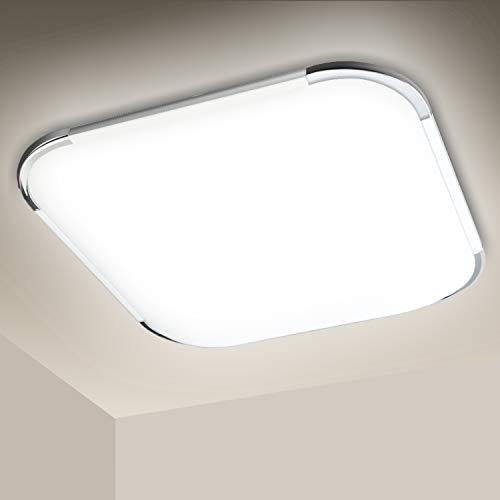 Hengda 12W Plafoniera LED, Impermeabile IP44, Equivalente a 100W, Bianco Freddo 6500K Lampada da Soffitto per Bagno Cucina Sala Corridoio Soggiorno