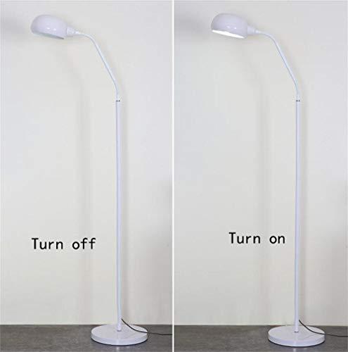 MXYXN Modern Arc Floor Lamp Reading Light for Living Room Bedroom. Marble Base. Matte Black Finish (Color : White)