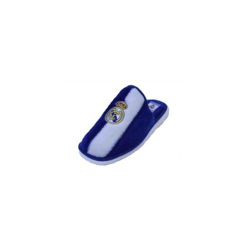 Real Madrid C.F. - Zapatillas de Estar por casa Infantiles, Color Blanco/Azul, Talla 26: Amazon.es: Zapatos y complementos