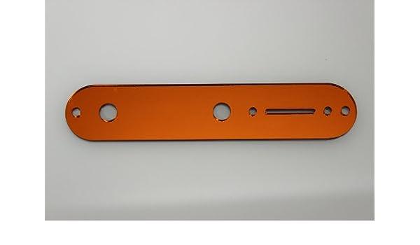 Orange Mirror control plate cover fits Fender Tele Telecaster