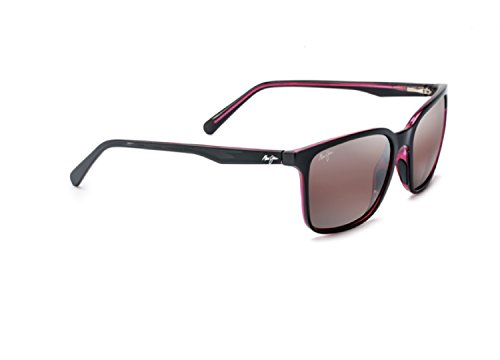Maui Jim Unisex Wild Coast Black/Red Interior/Maui Rose One - Maui Rose Maui Jim