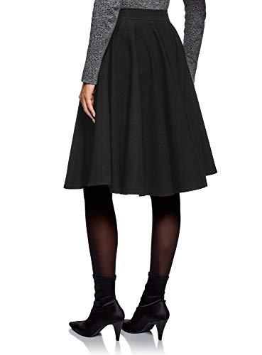 Doublure 2900n Tulle oodji Ultra Noir Femme avec Jupe Midi en nxf1wRqS