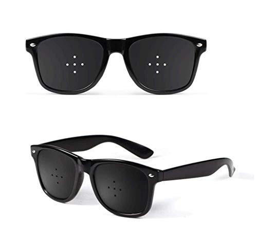 Unisex Eyesight Vision Care Vision Improve Pinhole Glasses Eyes Exercise Fashion Natural (Color : Black)