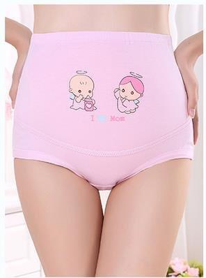 2Packs Women's High Waist Adjustable Maternity Panties High Cut Cotton Over Bump (for 7-10 Months) (Maternity High Cut Panties)