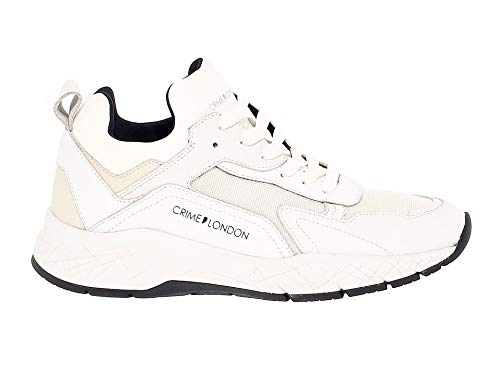 Crime Uomo Bianco London Sneakers 11944 Pelle TOwTrq